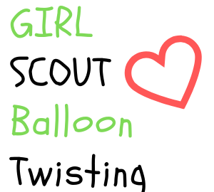girl scout balloon twisting