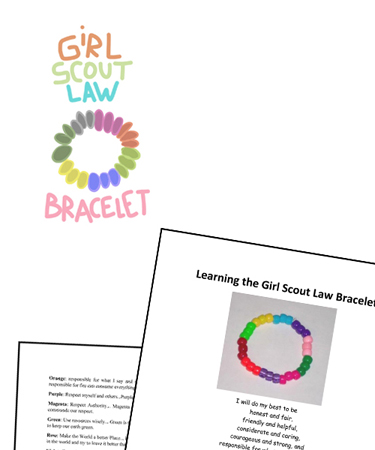 photo about Girl Scout Daisy Song Printable called Female Scout Regulation Bracelet Recreation - (Totally free PRINTABLE Video game)