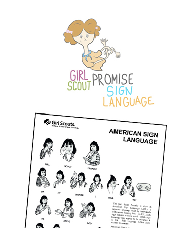 image about Boy Scout Oath in Sign Language Printable referred to as female scout pledge -