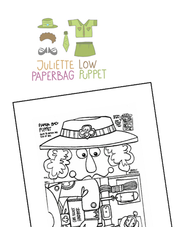 Juliette Low Coloring Page - Best Image Of Coloring Page Revimage.Co