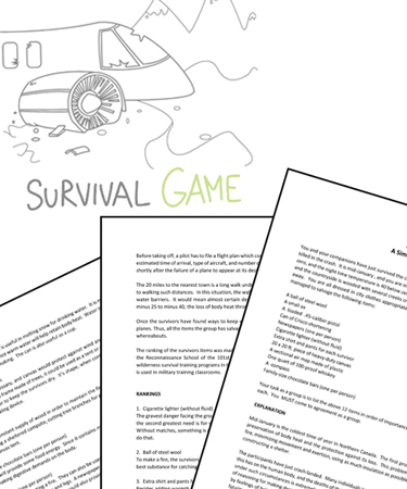 Survival Simulation Game - (FREE PRINTABLE ACTIVITY)