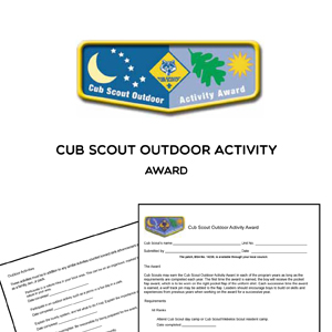 Cub Scout Outdoor Activity award