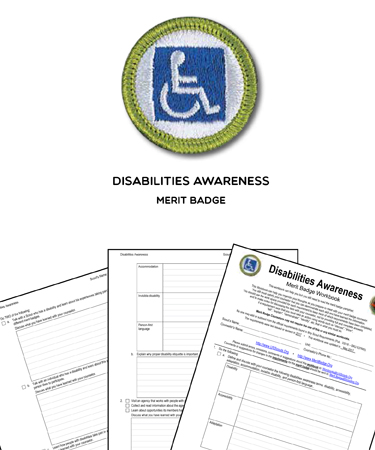 disabilities awareness merit badge worksheet requirements. Black Bedroom Furniture Sets. Home Design Ideas