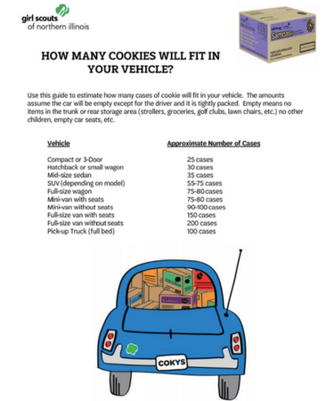 Girl scout cookie cases