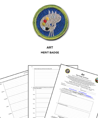 art merit badge worksheet requirements. Black Bedroom Furniture Sets. Home Design Ideas