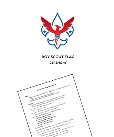 boy scout flag ceremony