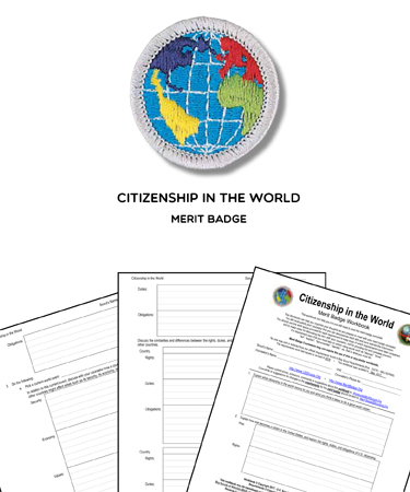 Citizenship in the World Merit Badge (WORKSHEET & REQUIREMENTS)