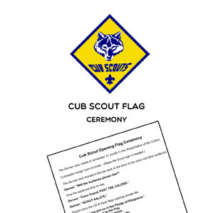 cub scout flag ceremony