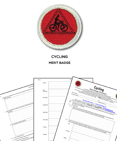 cycling merit badge worksheet requirements. Black Bedroom Furniture Sets. Home Design Ideas