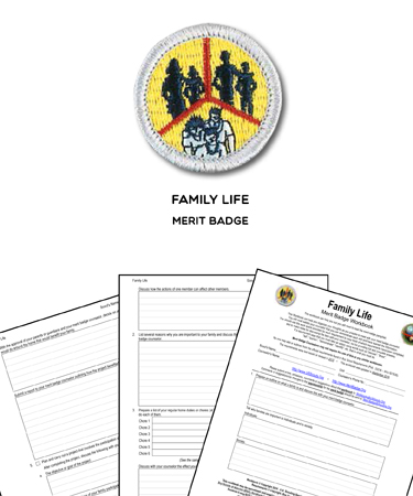family life merit badge worksheet requirements - Family Life Merit Badge Worksheet