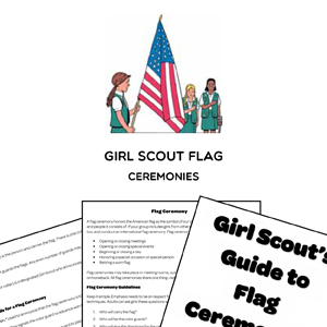 girl scout flag ceremonies