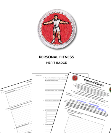 personal fitness merit badge worksheet requirements - Personal Fitness Merit Badge Worksheet