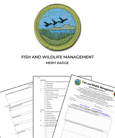 Fish and Wildlife Management Merit Badge (WORKSHEET & MORE)