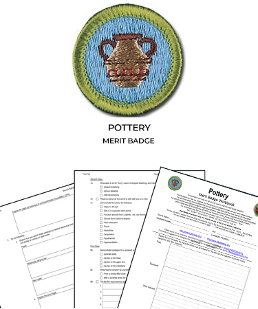 pottery merit badge worksheet requirements. Black Bedroom Furniture Sets. Home Design Ideas