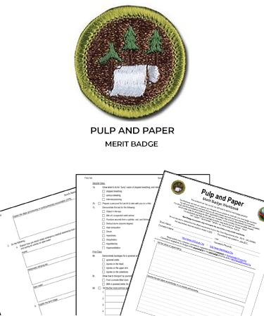 pulp and paper merit badge worksheet requirements. Black Bedroom Furniture Sets. Home Design Ideas