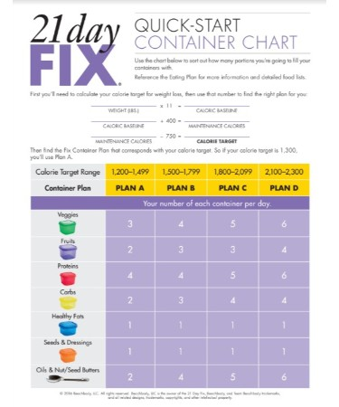picture relating to 21 Day Fix Chart Printable called 21 Working day Restore Chart PDF Scouting Internet