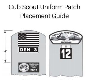 Cub Scout Uniform Patch Placement