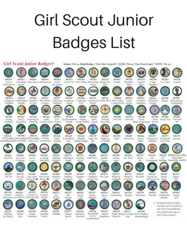 Girl Scout Junior Badges