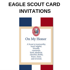 Eagle Scout CARD INVITATIONS