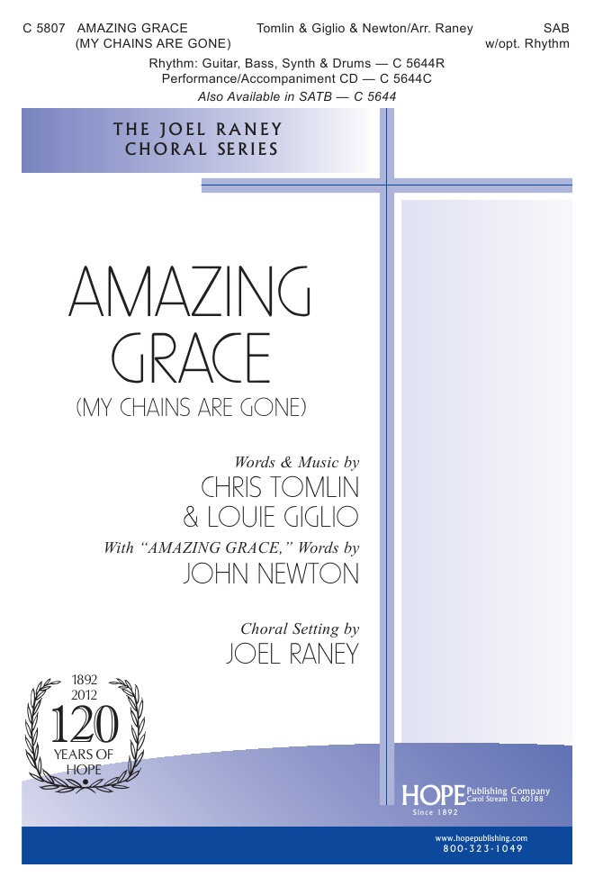 Amazing Grace My Chains are Gone PDF Song Sheet music