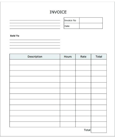 blank invoice template pdf free download printable
