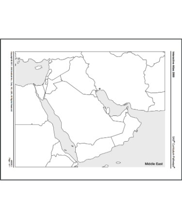 Blank Map Of Middle East PDF - Free Download (PRINTABLE)