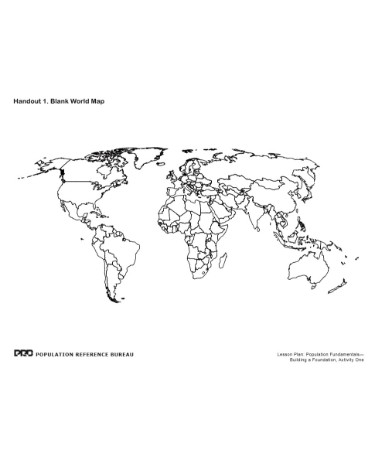 Blank World Map Pdf Free Download Printable