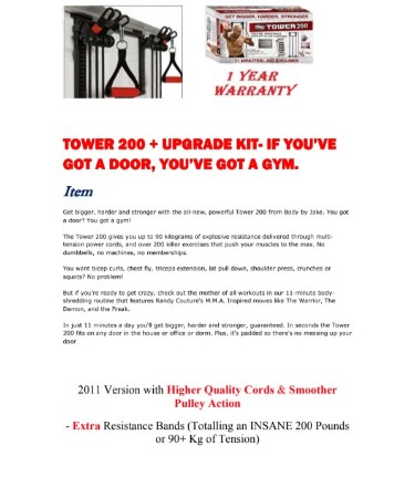 Body By Jake Tower 200 Exercise Chart PDF