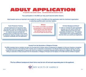 bsa adult application