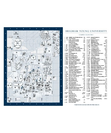 Byu Campus Map PDF   Free Download (PRINTABLE)