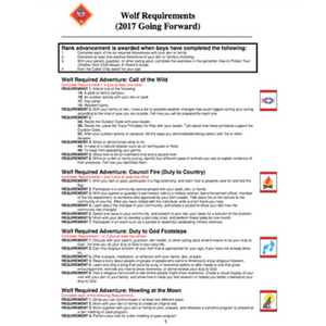 Cub Scout Wolf Requirements
