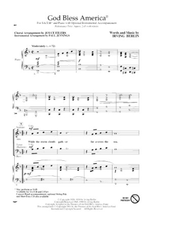 photo about Free Printable God Bless America Sheet Music known as God Bless The usa Sheet Audio PDF Scouting Internet