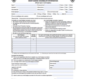 merit badge counselor form