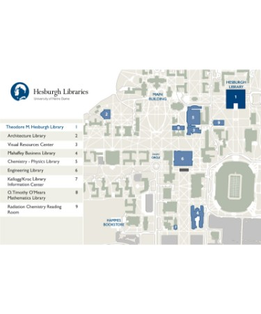 Notre Dame Campus Map Pdf Free Download Printable