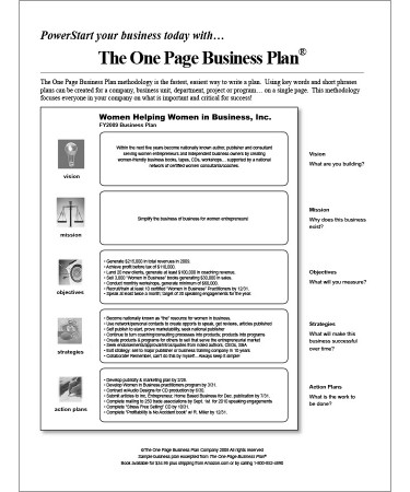 One page business plan template free download printable one page business plan template pdf flashek