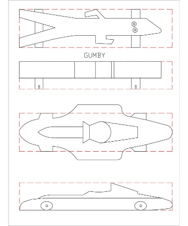 Pinewood Derby Car Template PDF