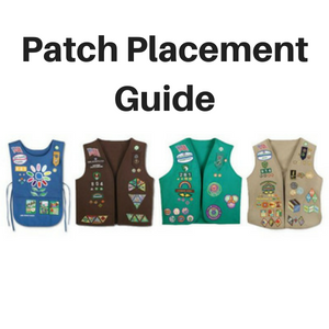 girl scout patch placement