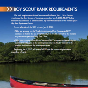 scout rank requirements