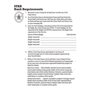 star scout requirements