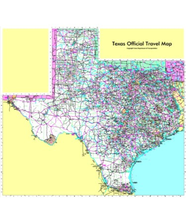 Texas Road Map PDF - Free Download (PRINTABLE)