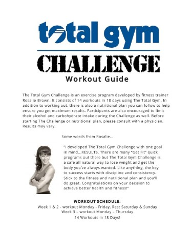 total gym workout chart pdf free download printable